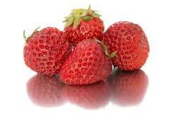 Όμορφη, ώριμη, μεγάλη φωτεινή φράουλα στο απομονωμένο υπόβαθρο Απομονώστε τη φράουλα Στοκ φωτογραφία με δικαίωμα ελεύθερης χρήσης
