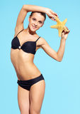 όμορφη bikini γυναίκα Στοκ Εικόνες