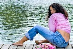 όμορφη brunet γυναίκα Στοκ φωτογραφίες με δικαίωμα ελεύθερης χρήσης