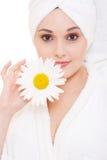 όμορφη camomile γυναίκα Στοκ φωτογραφίες με δικαίωμα ελεύθερης χρήσης