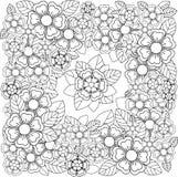 Όμορφη floral γραπτή διακόσμηση Στοκ Εικόνες