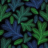 Όμορφη floral διακόσμηση, διανυσματικό άνευ ραφής σχέδιο Στοκ Φωτογραφίες