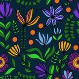 Όμορφη floral διακόσμηση, διανυσματικό άνευ ραφής σχέδιο Στοκ Φωτογραφία