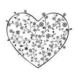 Όμορφη floral περίκομψη καρδιά Στοκ Εικόνες