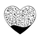 Όμορφη floral περίκομψη καρδιά Απεικόνιση αποθεμάτων