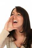 όμορφη hollering γυναίκα Στοκ εικόνα με δικαίωμα ελεύθερης χρήσης