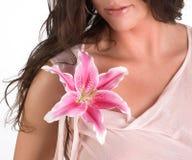 όμορφη lily spa επεξεργασία Στοκ Εικόνες