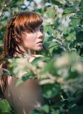 όμορφη redhead γυναίκα στοκ φωτογραφία