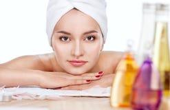 όμορφη salon spa γυναίκα στοκ φωτογραφία με δικαίωμα ελεύθερης χρήσης