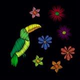 Όμορφη toucan κεντητική Στοκ Εικόνα
