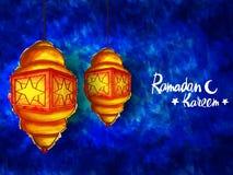 Όμορφοι λαμπτήρες για τον εορτασμό Ramadan Στοκ εικόνα με δικαίωμα ελεύθερης χρήσης