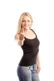 όμορφοι αντίχειρες επάνω &sig Στοκ φωτογραφίες με δικαίωμα ελεύθερης χρήσης
