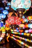 Όμορφοι αραβικοί λαμπτήρες σε έναν bazaar Στοκ Εικόνα
