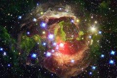 Όμορφοι γαλαξίας και συστάδα των αστεριών στη διαστημική νύχτα στοκ εικόνα