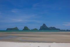 Όμορφοι θάλασσα και ουρανός στο AO Prachuab Prachuap Khiri Khan Ταϊλάνδη Στοκ εικόνες με δικαίωμα ελεύθερης χρήσης