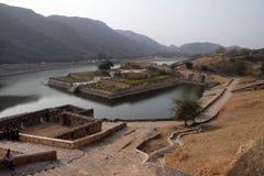 Όμορφοι κήποι στο ηλέκτρινο οχυρό, Jaipur στοκ φωτογραφία με δικαίωμα ελεύθερης χρήσης