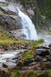 Όμορφοι καταρράκτης Krimml και ρεύμα βουνών στο έθνος Tauern Στοκ εικόνα με δικαίωμα ελεύθερης χρήσης
