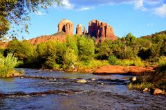 Όμορφοι κόκκινοι βράχοι Sedona, ΗΠΑ στοκ εικόνες