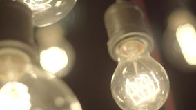 Όμορφοι λαμπτήρες του Edison απόθεμα βίντεο