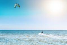 Όμορφος μπλε καραϊβικός ουρανός, και ήλιος Στοκ Φωτογραφίες