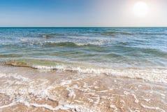 Όμορφος μπλε καραϊβικός ουρανός και ήλιος και θάλασσα Στοκ εικόνες με δικαίωμα ελεύθερης χρήσης