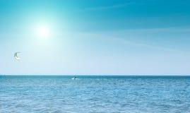 Όμορφος μπλε καραϊβικός ουρανός, και ήλιος Στοκ Φωτογραφία