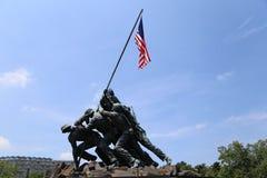 Όμορφοι πυροβολισμοί του μνημείου Iwo Jima στο συνεχές ρεύμα πλύσης Στοκ Εικόνα