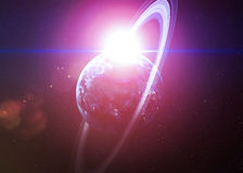 Όμορφοι πλανήτες στο βαθύ μαύρο κόσμο με το διάστημα Στοκ εικόνα με δικαίωμα ελεύθερης χρήσης