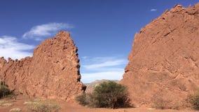 Όμορφοι σχηματισμοί βράχου ερήμων σε Quebrada Palmira κοντά σε Tupiza, Βολιβία Στοκ Εικόνα