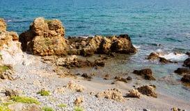 Όμορφοι φυσικοί βράχοι στο νησί της Κρήτης Στοκ Εικόνες