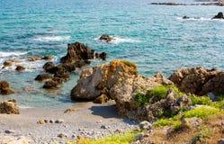 Όμορφοι φυσικοί βράχοι στο νησί της Κρήτης Στοκ Φωτογραφίες