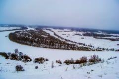 Όμορφοι λόφοι χειμερινών τοπίων Στοκ εικόνα με δικαίωμα ελεύθερης χρήσης
