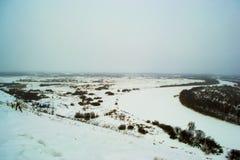 Όμορφοι λόφοι χειμερινών τοπίων Στοκ φωτογραφία με δικαίωμα ελεύθερης χρήσης