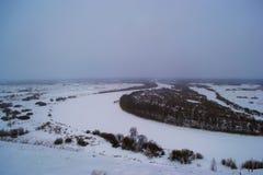 Όμορφοι λόφοι χειμερινών τοπίων Στοκ φωτογραφίες με δικαίωμα ελεύθερης χρήσης