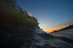 Όμορφοι seascape θάλασσα ηλιοβασιλέματος βραδιού και ορίζοντας ουρανού Στοκ φωτογραφία με δικαίωμα ελεύθερης χρήσης