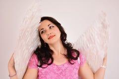 Όμορφος άγγελος γυναικών Στοκ Φωτογραφία