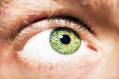 Όμορφος ένας οξυδερκής φαίνεται μάτι ατόμων ` s Κλείστε αυξημένος στοκ φωτογραφίες