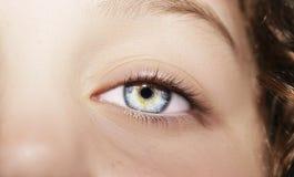 Όμορφος ένας οξυδερκής φαίνεται μάτι Κλείστε αυξημένος στοκ εικόνα με δικαίωμα ελεύθερης χρήσης