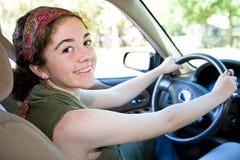 όμορφος έφηβος οδηγών Στοκ εικόνες με δικαίωμα ελεύθερης χρήσης