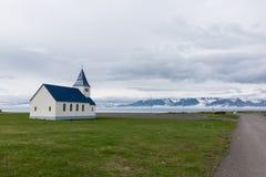 Όμορφος λίγη εκκλησία σε Hofsos, Ισλανδία Στοκ φωτογραφίες με δικαίωμα ελεύθερης χρήσης