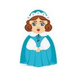 Όμορφος λίγη κυρία σε ένα κοστούμι και ένα καπέλο διάνυσμα διανυσματική απεικόνιση