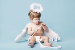Όμορφος λίγος άγγελος Στοκ φωτογραφία με δικαίωμα ελεύθερης χρήσης