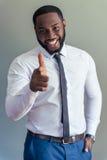 Όμορφος αμερικανικός επιχειρηματίας Afro Στοκ εικόνες με δικαίωμα ελεύθερης χρήσης