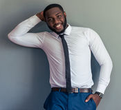 Όμορφος αμερικανικός επιχειρηματίας Afro Στοκ φωτογραφία με δικαίωμα ελεύθερης χρήσης