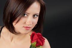 όμορφος αυξήθηκε γυναίκα Στοκ εικόνες με δικαίωμα ελεύθερης χρήσης