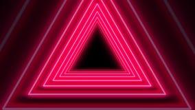 Όμορφος αφηρημένος κόκκινος άνευ ραφής βρόχος ζωτικότητας υποβάθρου τριγώνων νέου 4K ελεύθερη απεικόνιση δικαιώματος