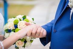 όμορφος γάμος ανθοδεσμών Στοκ Εικόνες