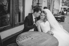 όμορφος γάμος ζευγών Στοκ Φωτογραφίες