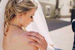 όμορφος γάμος ζευγών Στοκ φωτογραφία με δικαίωμα ελεύθερης χρήσης