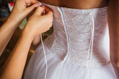 όμορφος γάμος φορεμάτων Στοκ Εικόνες